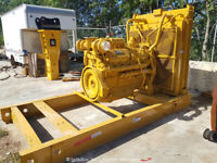 Caterpillar 3412 755hp Diesel Engine Crate Mounted Fresh Paint bidadoo -Repair