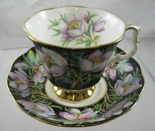 More details for royal albert, provincial flowers cup and saucer, prairie crocus 1975