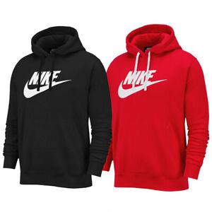 NIKE Mens Sportswear Club Fleece Hoodie Swoosh Logo Top Hooded Pull Over