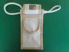White and brown wine travel caddy