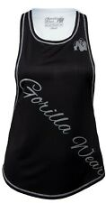 🦍UK M.Gorilla Wear Womens Florida Stringer Tank Top Black/White Fitness New+tag