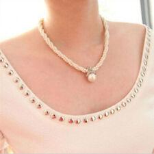 Damen Blume Halskette Perlen Kette Statement Choker Schmuck Collier Blogger Gift