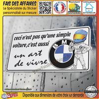Sticker autocollant bmw motorsport un art de vivre sponsor j'aime ma bmw decal