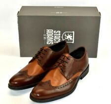 Stacy Adams Men's Rayburn Multi Brown Wing Tip Oxford 25036 Leather Shoes Sz 9.5
