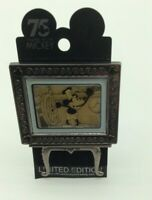 Disney Pin WDW Mickey's 75th Anniversary Steamboat Willie Easel - 1st in Series
