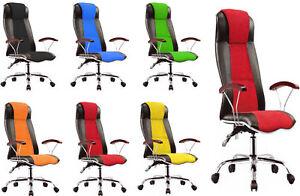 Office Executive Racing PC Desktop Swivel PU Leather Chair Armrest High Back