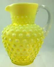 Fenton - No. 389 Ribbed Handle Syrup Pitcher - TOPAZ OPAL