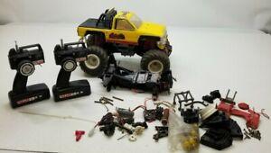 Vintage Kyosho Big Brute 1/10 RC Monster Truck 2wd ROLLER PARTS LOT