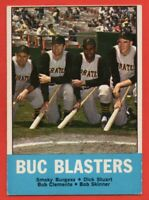 1963 Topps #18 Buc Blasters EX-EXMINT Roberto Clemente Pittsburgh Pirates HOF