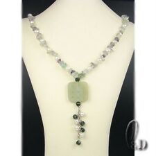 AU SELLER Genuine pearl&Natural Jade&Fluorite Necklace 010608