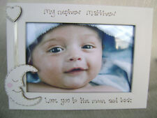 personalised photo frame. 6x4 inch. MY NEPHEW  love you to the moon and back