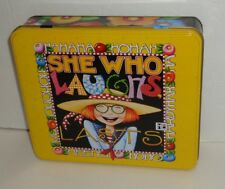 Mary Engelbreit Girl Floral Yellow Tin Box Floral Stationery Mother's Day Card