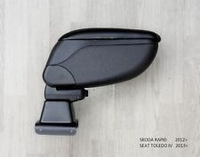 Seat TOLEDO IV 2013- Armrest Centre Console Storage Adjustable Black