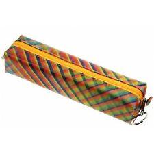 Rainbow Lattice Pattern Pencil Case Lenticular Color-Changing #R-035-GLOBO#