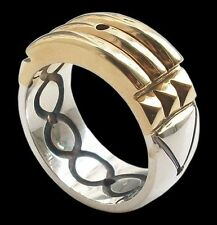 925 Sterling Silver Atlantis Ring 24K Gold Plated Front All Sizes Anillo Atlante