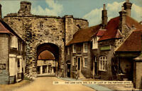 Rye England vintage postcard ~1950/60 The Land Gate Last of the fortified Gates