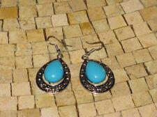 Women turquoise earrings-Turquoise earrings-Earrings turquoise - Silver earrings