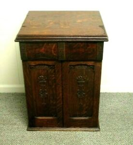 Antique 1903 PARLOR / SITTING ROOM CABINET *SEWING MACHINE CABINET* Beauty VGUC