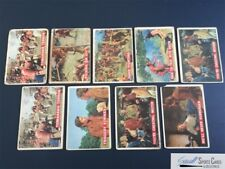 (9) 1956 Topps Davy Crockett vintage cards lot, low grade, *SEWALL*