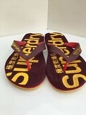 Superdry Mens Flip Flops Size Medium 8/9 new. Wine maroon colour. Beach sandals