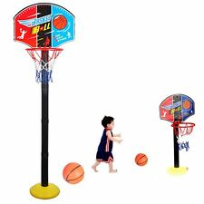 Adjustable 120cm Kids Basketball Back Board Stand & Hoop Set For Children Gift