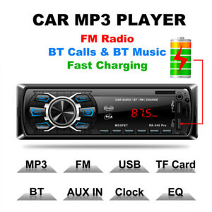 Single DIN Car Stereo Receiver Bluetooth Card Bluetooth hands-free MP3 player