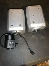 Lot Of 2 SONY GN258 COLOR VIDEO CAMERA DIGITAL HYPER With CCTV Lens 3.5-8.0mm