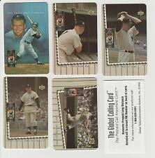 MICKEY MANTLE 1994 Upper Deck 5 Phone Card HEROES Set ALL EXPIRED NEVER USED