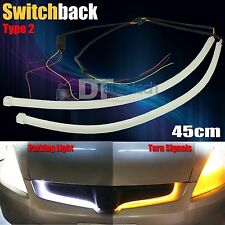 Flexible Switchback White/Amber High Power LED DRL Daytime Running Signal Lights