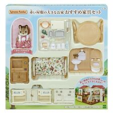 Sylvanian Families Room Sets Large House with Red Roof Recommended Furniture Set