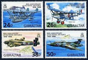 GIBRALTAR 1998 ROYAL AIR FORCE SC#755-58 MNH AVIATION PLANES, MILITARY, WWII