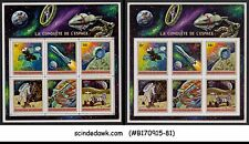 BURUNDI - 1972 CONQUEST OF SPACE - 2-MIN. SHEETS MINT NH IMPERF!!!