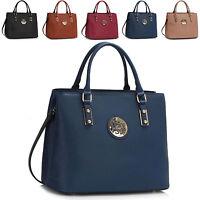 New Ladies Designer Womens Faux Leather Shoulder Bag Cross Body Handbag Tote UK
