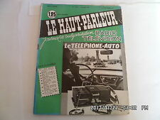 LE HAUT PARLEUR RADIO TELEVISION N°1041 15/07/1961 TELEPHONE AUTO    H20