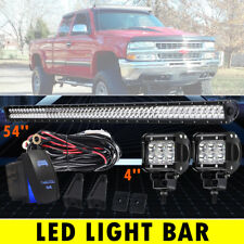 54Inch 2080W Dual Row Straight LED Light Bar Offroad Driving Combo Beam VS 52""