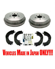 Rear Brake Drums Shoes & Springs for Toyota Camry 2.4L 02-06 Built in Japan ONLY