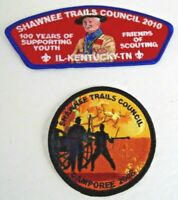 Lot of 2 BSA Boy Scout Shawnee Council Patches Unused Shoulder KY IL TN Cub
