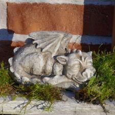 Drache liegend Drachenfigur Drachenbaby Garten Figur Tierfigur schlafend Tier
