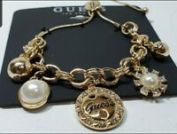 GUESS WOMEN'S GOLD COLOR CHARM BRACELET.  *****BRAND NEW!*****