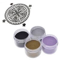 DIY Metallic Embossing Powder Craft Stamping Supplies Heating Shiny Dark Gold