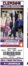 2014 CLEMSON TIGERS VS LOUISVILLE CARDINALS NFL TICKET STUB 10/11/14