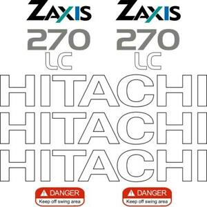 Hitachi ZX270-1 Decals Stickers Repro Aftermarket Decal Kit