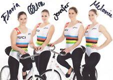 ORIGINAL unterschriebene-Autogrammkarte RV Sirnach Weltmeister 4erKunstradfahren