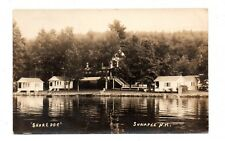 "SUNAPEE, NH ~ ""SHOREDGE"" RESORT & CABINS, REAL PHOTO PC ~ used 1935"