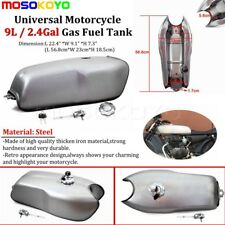 Vintage Steel 9L / 2.4 Gal Gas Fuel Tank For Suzuki Honda BMW R100 R Cafe Racer