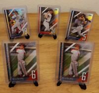 2020 Topps Chrome Update A NUMBERS GAME REFRACTOR 5 CARD LOT - YOUNT - JOHNSON +