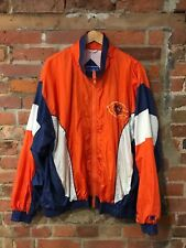 CHICAGO BEARS WINDBREAKER JACKET NFL ORANGE BLUE COLOR WORKS (sj8) SIZE XXL-3XL