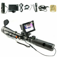 Night Vision Scope Lens Add on Rifle Scope IR Torch Mount with LCD Display