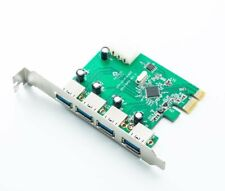 4 Port USB 3.0 PCI Express Card PC Karte Computer Controller Hub PCIe Adapter