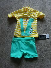 *Bnwt*Crocodile Two Piece Swimming Outfit/Shorts*6-9 Months*